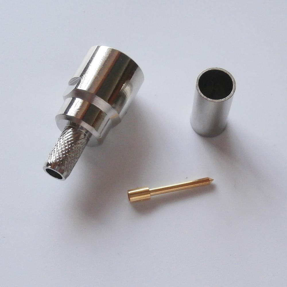 1 pçs rf conector coaxial soquete fme macho plug friso para lmr195 rg58 rg142 rg223 rg400 rf coaxial níquel chapeado bronze