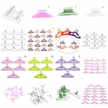 5/10/12/20pcs/set Doll Plastic Hangers Baby Toys Baby Toys For Clothes Dress Outfit Skirt Shoes Doll