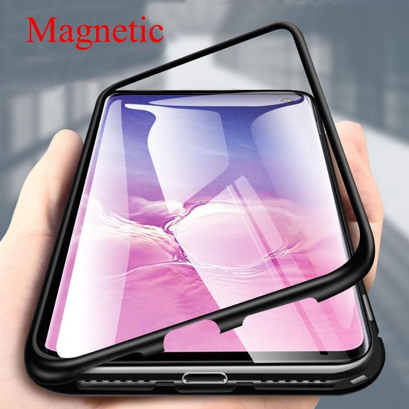 Магнитный металлический чехол для Samsung Galaxy A51 A71 S10E S8 S9 S10 Plus S7 Edge Note 8 9 10 Pro M30 M40 A9 2018 чехол для задней панели телефона
