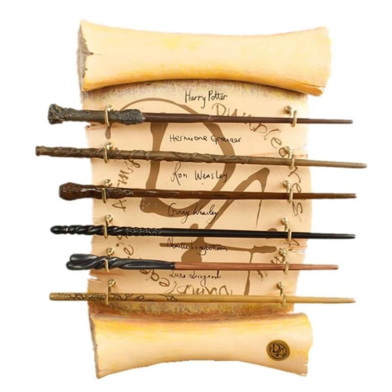 Magic School Metal Core Wands Cosplay Dumbledore Ron Voldmort Hermione Magical Wand Bracket Harried Gift No Box