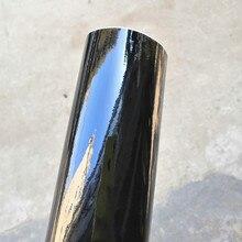 Film vinyle noir brillant Piano haute qualité   1,35x 2M/roll, feuille demballage adhésive noir brillant pour voiture sans bulles dair