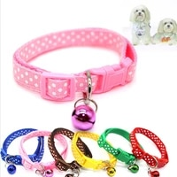 pet supplies buckle retractable pendant collar for dogs cats small dogs nylon patch with copper bells collars cat accessories