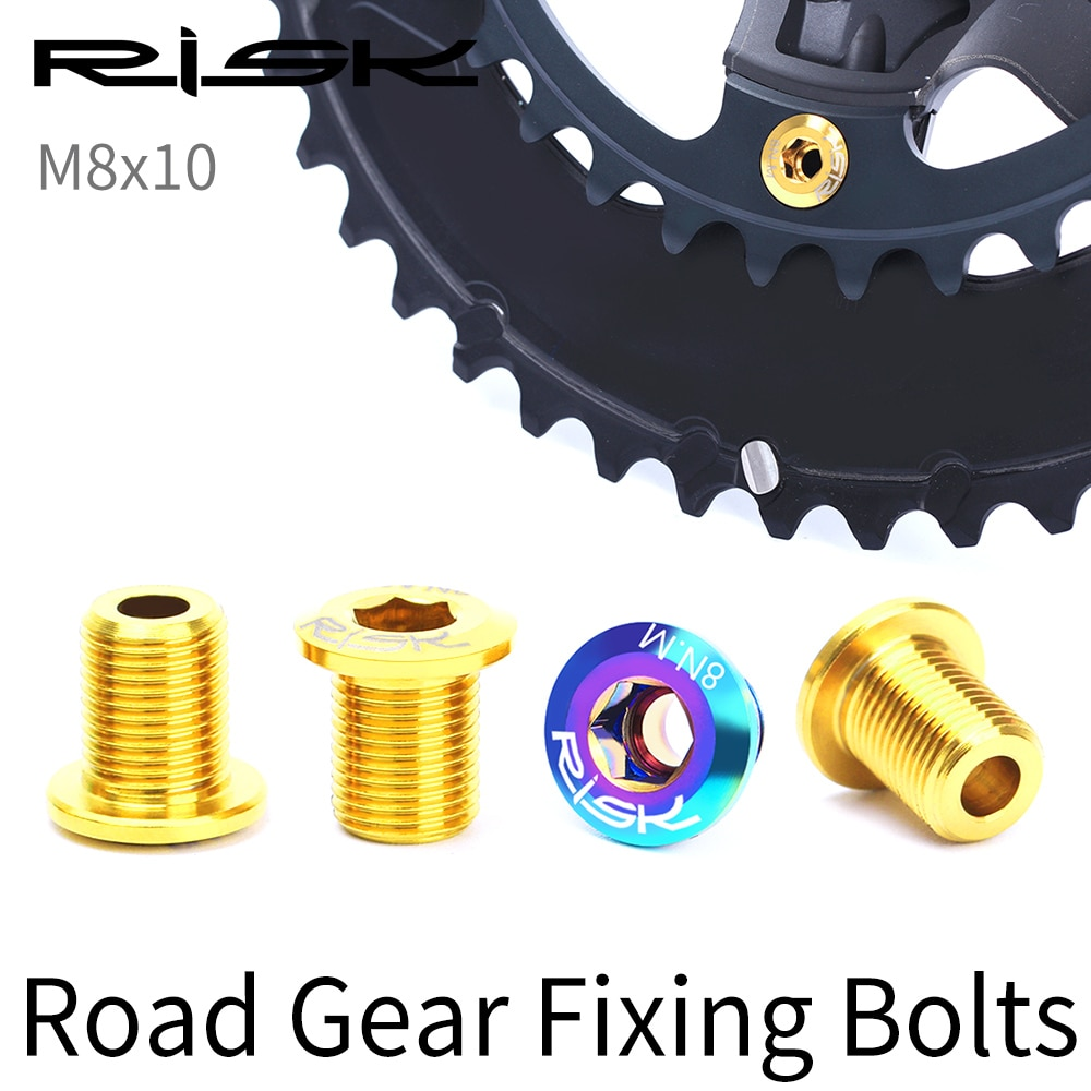 AliExpress - RISK Road Bike Bicycle M8x10 Chainring Chain Wheel Gear Fixing Bolts Screws Nuts For Cranksets For Shimano 105/UT6800/R8000/DA