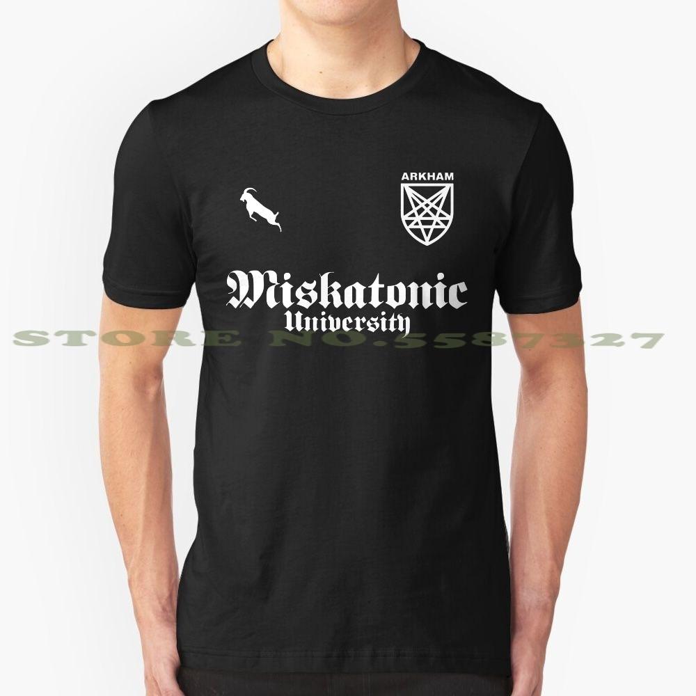 Arkham, camiseta Vintage de moda para Club de fútbol, camisetas Arkham, fútbol, Club de fútbol, Horror, pentagrama, Logo, personal satánico gótico satánico