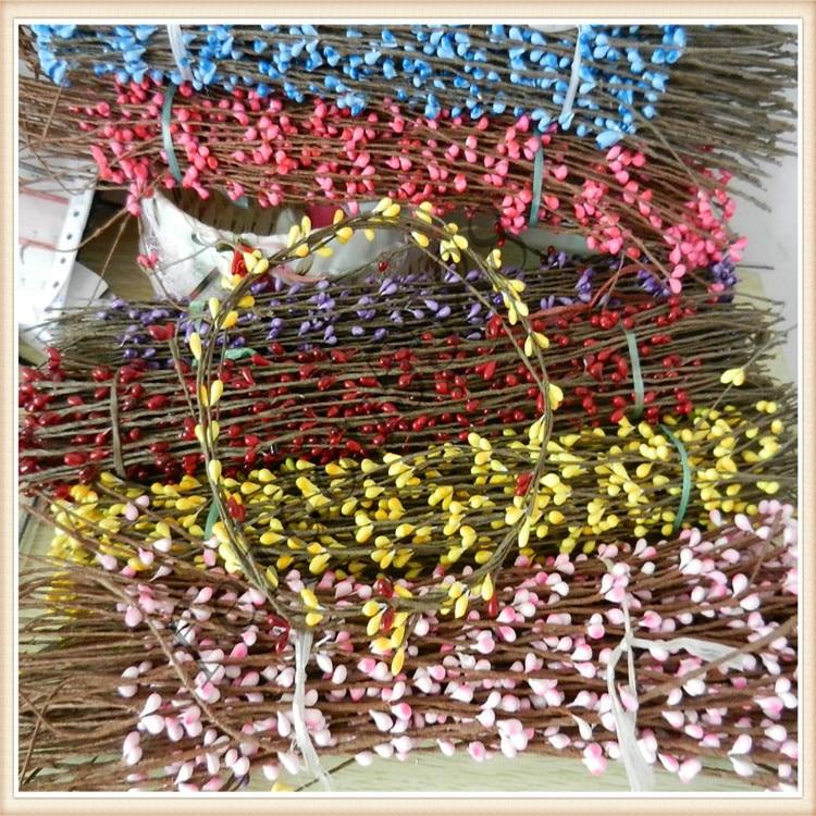 Línea de envoltura de papel de 40CM, brazalete de flores artificiales secas, diadema, guirnalda de material DIY, corona de tallos de caña de ratán, navidad