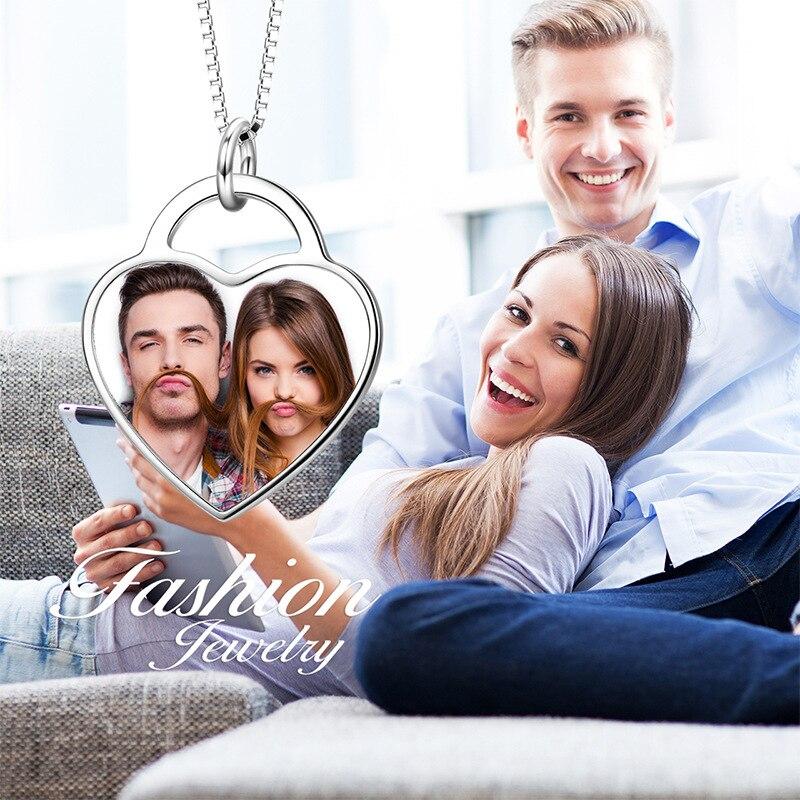 Collier personnalisé avec nom et Photo pour femmes et hommes, bijoux en acier inoxydable, à la mode, cadeau pour la famille et les proches