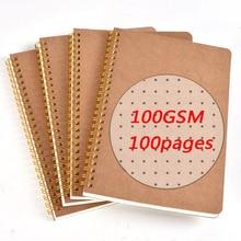 Bujo Gepunktete Kugel Journal A5 B5 Kraft Papier Zeichnung Notebook Grid Blank Pads Reise Note Notebook für Schule Liefert Geschenk d50