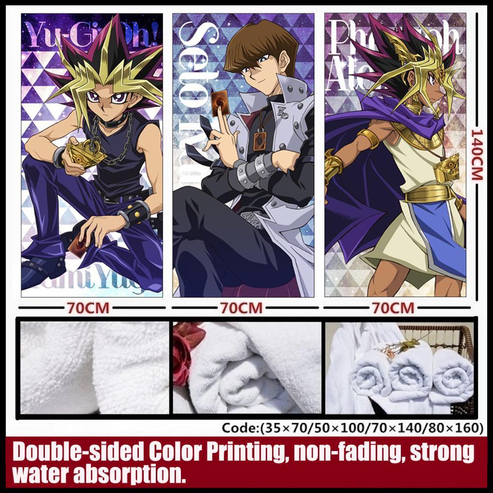 ¡Anime/Yu-Gi-Oh! Muto yugi/Seto Kaiba/Yusei Fudo/Jaden Yuki/Yuma Tsukumo toalla suave y cómoda/Toalla de baño/necesidades diarias