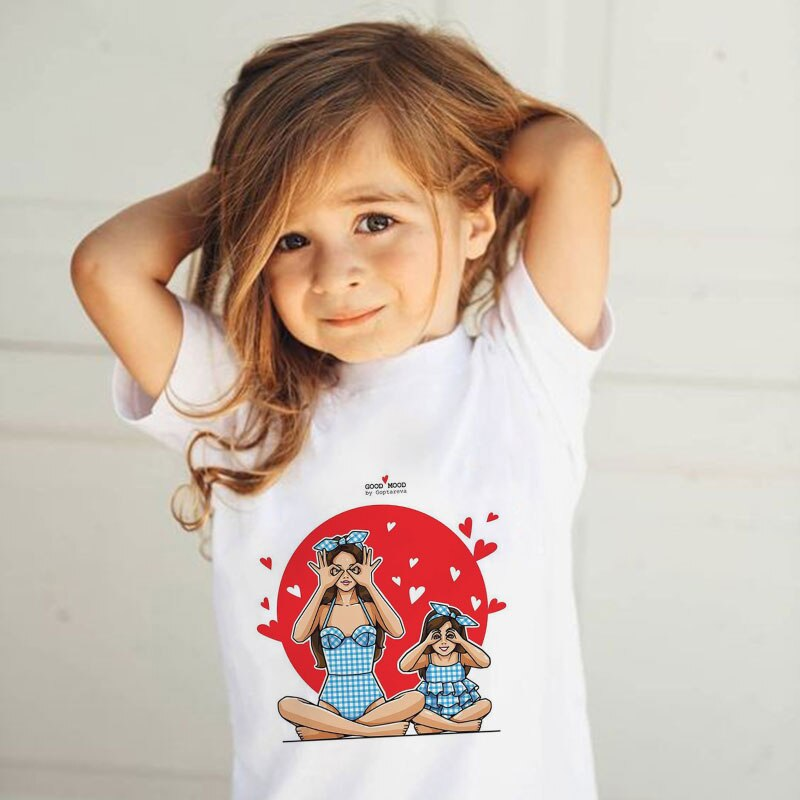 Summer tops Super Mom Baby Girl Tshirt Vogue T Shirts kids clothes Mother Love Life Lovely Printing