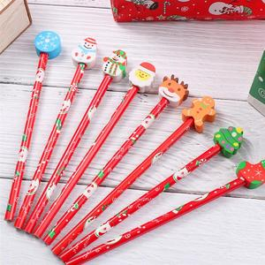 20Pcs Christmas Pencils Practical Lightweight High Quality Cartoon Pencils Students Stationeries Christmas Supplies for Teenager