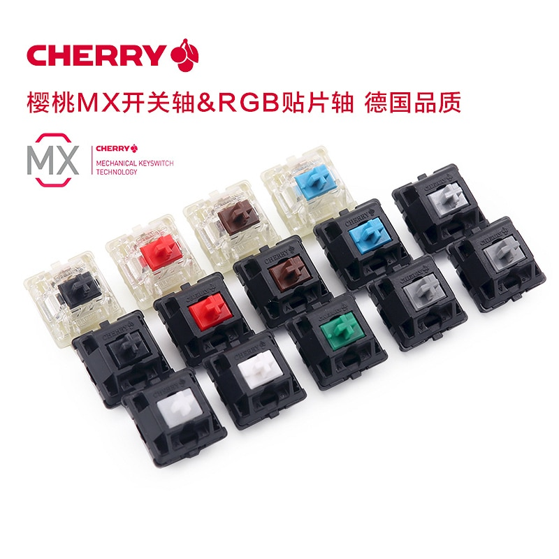 noppoo 84 choc mini 84 white color compact cherry mx blue switch game keyboard white pbt mini84 mechanical keyboard Original Cherry MX Mechanical Keyboard Switch Red Black Blue Brown Gray White Silver speed Axis Switch 3pin Cherry Clear Switch