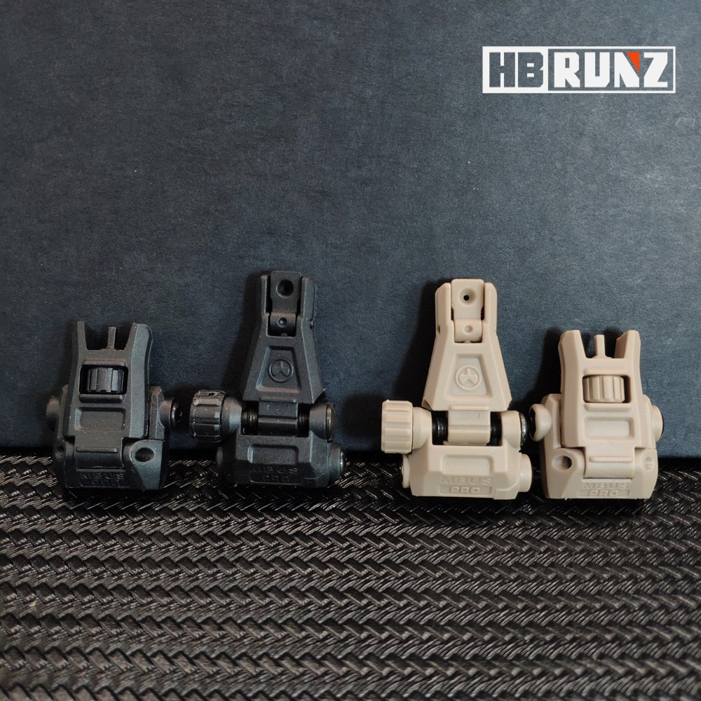 Фото - Tactical Nylon Material Folding Flip Up Rear Sight Front Sight on picatinny rail for toy rifle Aiming Accessories GBB Magpul AEG folding tactical flip up sight rear front sight mount transition backup iron sight rapid rifle rts for paintball accessories