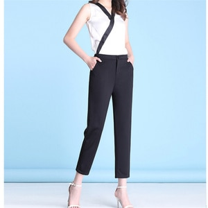 New Spring Summer Straight Pants Women Casual Korean High Waist Pants Fashion All-match Ankle Suit Pants Trousers Femme