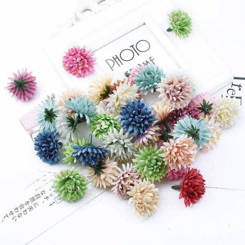 12 piezas Clavel flor cabeza álbum de recortes flores decorativas para boda pared flores falsas a cap decoración del hogar flores artificiales baratas