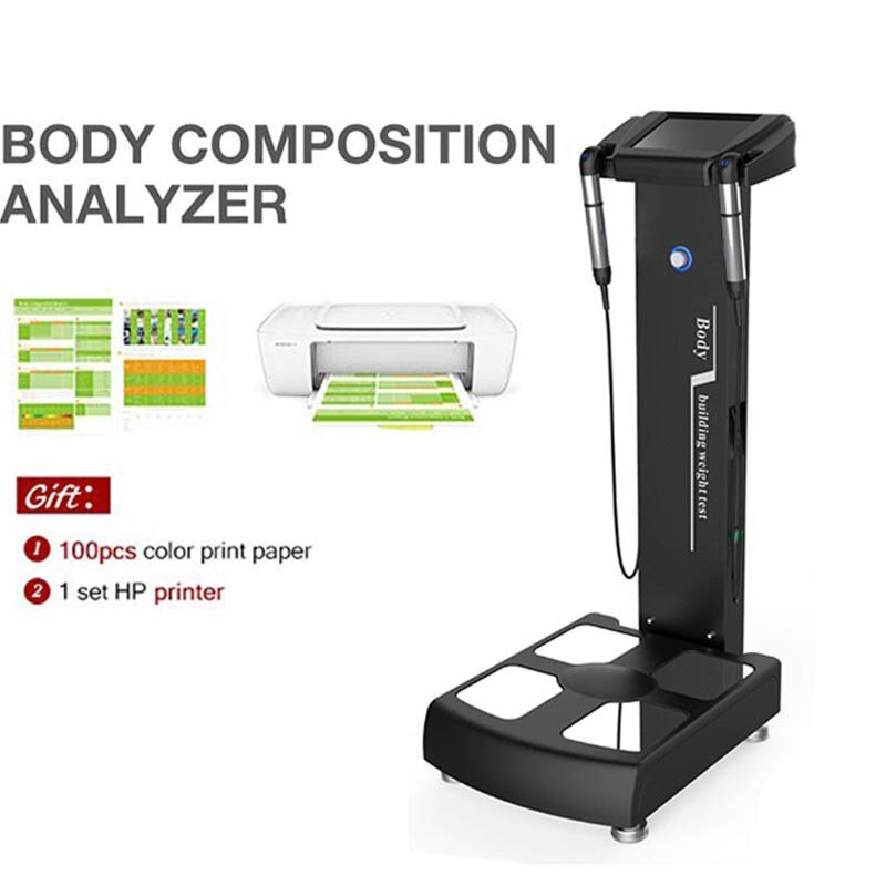 جودة مصنع جهاز تجميل محلل للجسم كتلة مؤشر أداة قياس الجسم مع طابعة A4 لقياس الوزن
