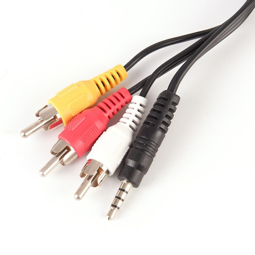 Conector Jack de 3,5mm macho a 3 conectores RCA de gran calidad...