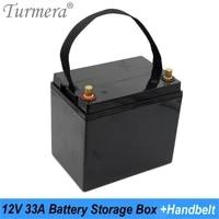 turmera 12v 33ah battery storage box for 3 2v 32700 lifepo4 battery for 12v solar power system or uninterrupted power supply use