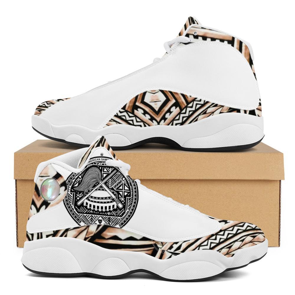 Luxury Design Polynesian Samoa Tribe Style Boy Sneakers Running Shoes Custom Ball Sports Team Logo Men's Basketball Sports Shoes