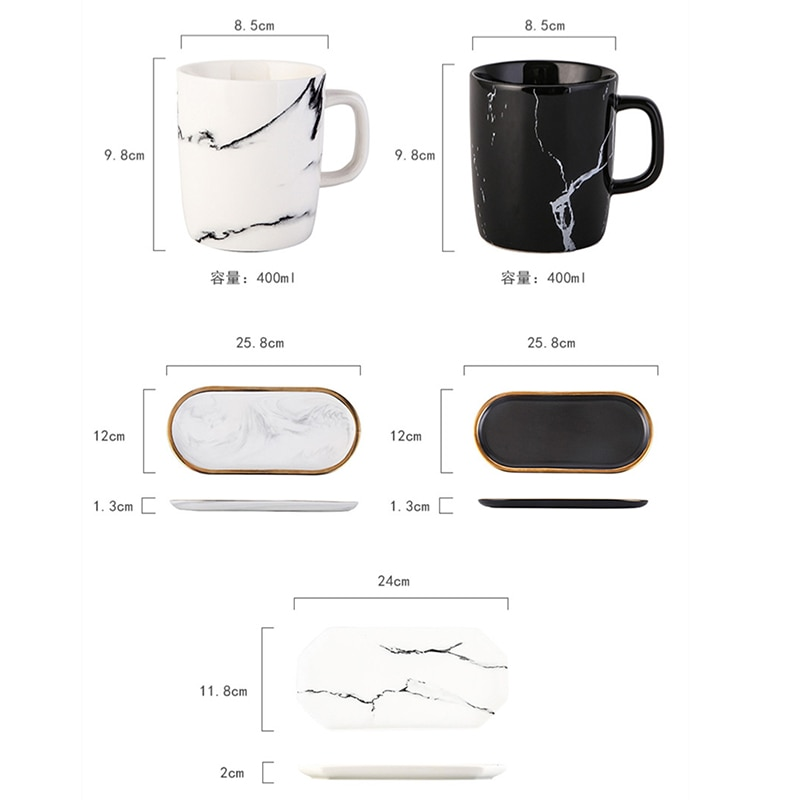 High Quality Marble Ceramic Cup Bathroom Accessories Couple Toothbrush Mouthwash Cup Rack Toothbrush Holder Household Items enlarge
