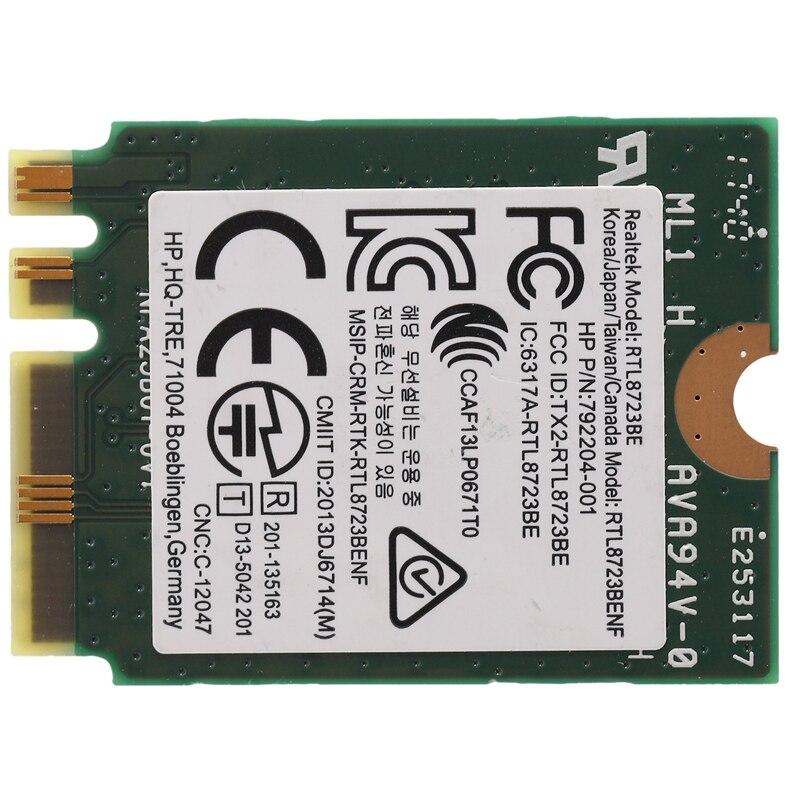 HEIßER-Wireless Adapter für Realtek RTL8723BE 802,11 N WiFi Karte Bluetooth 4,0 NGFF Karte SPS 843338-001 300mbps