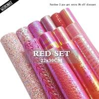 Холщовая ткань QIBU 22*30 см, искусственная кожа, цвет в ассортименте