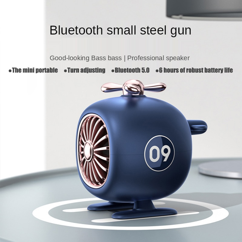 Mini Wireless Speaker 400MAH Cute Helicopter Portable Audio Stereo Music Surround Sound Outdoor Speaker Subwoofer Wireless Audio