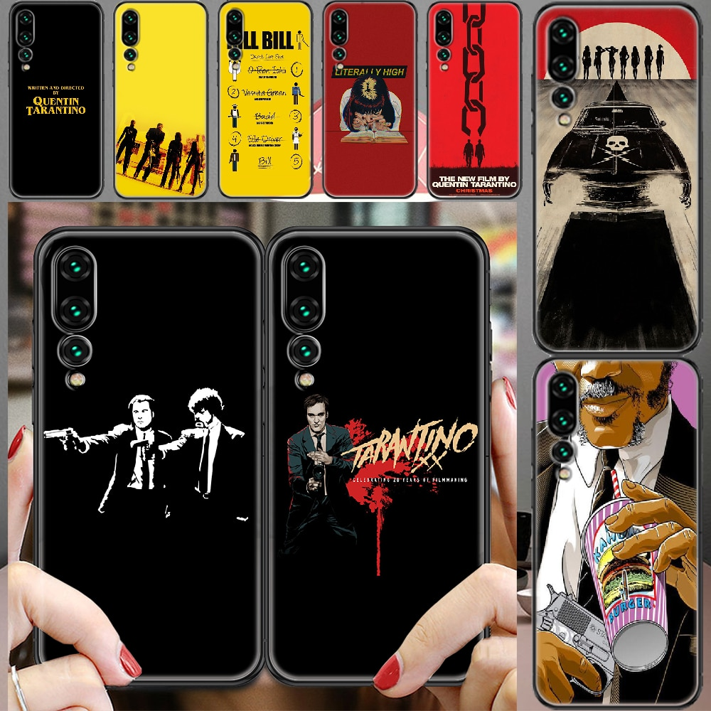 written-directed-quentin-tarantino-phone-case-for-huawei-p-mate-p10-p20-p30-p40-10-20-smart-z-pro-lite-2019-black-painting