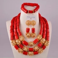 african coral necklace natural coral jewelry set red coral beads for nigerian wedding