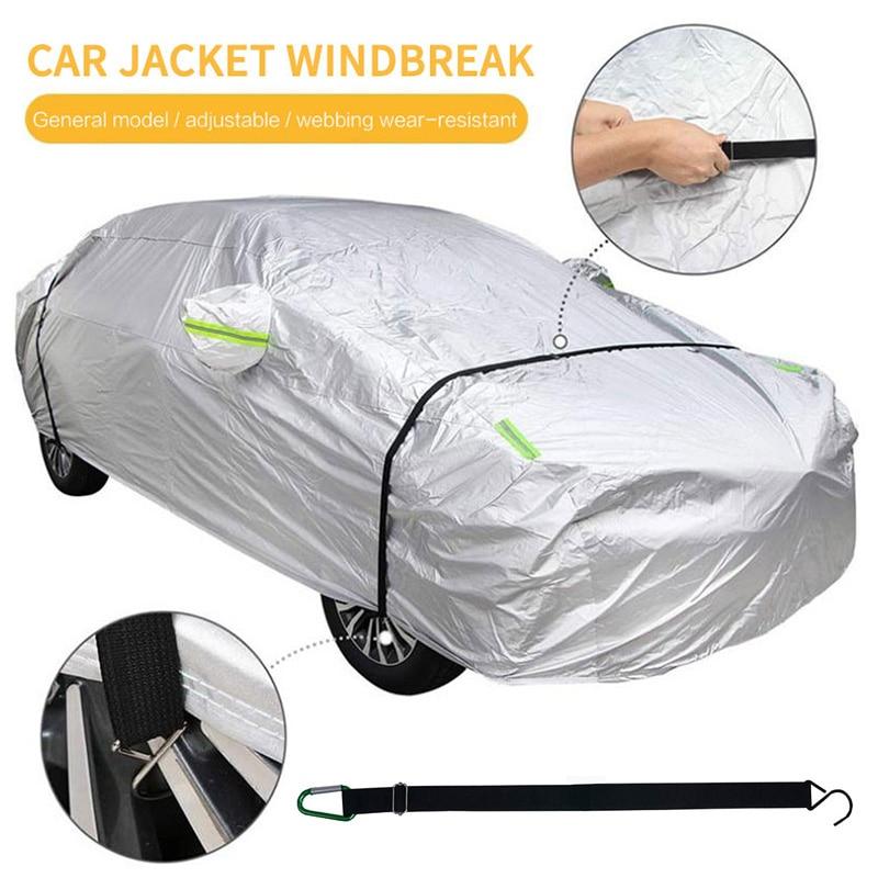 2 pçs roupas de carro fixo elástico capa automóvel fixo corda cinta fixa faixa elástica universal capa do carro cinto vento
