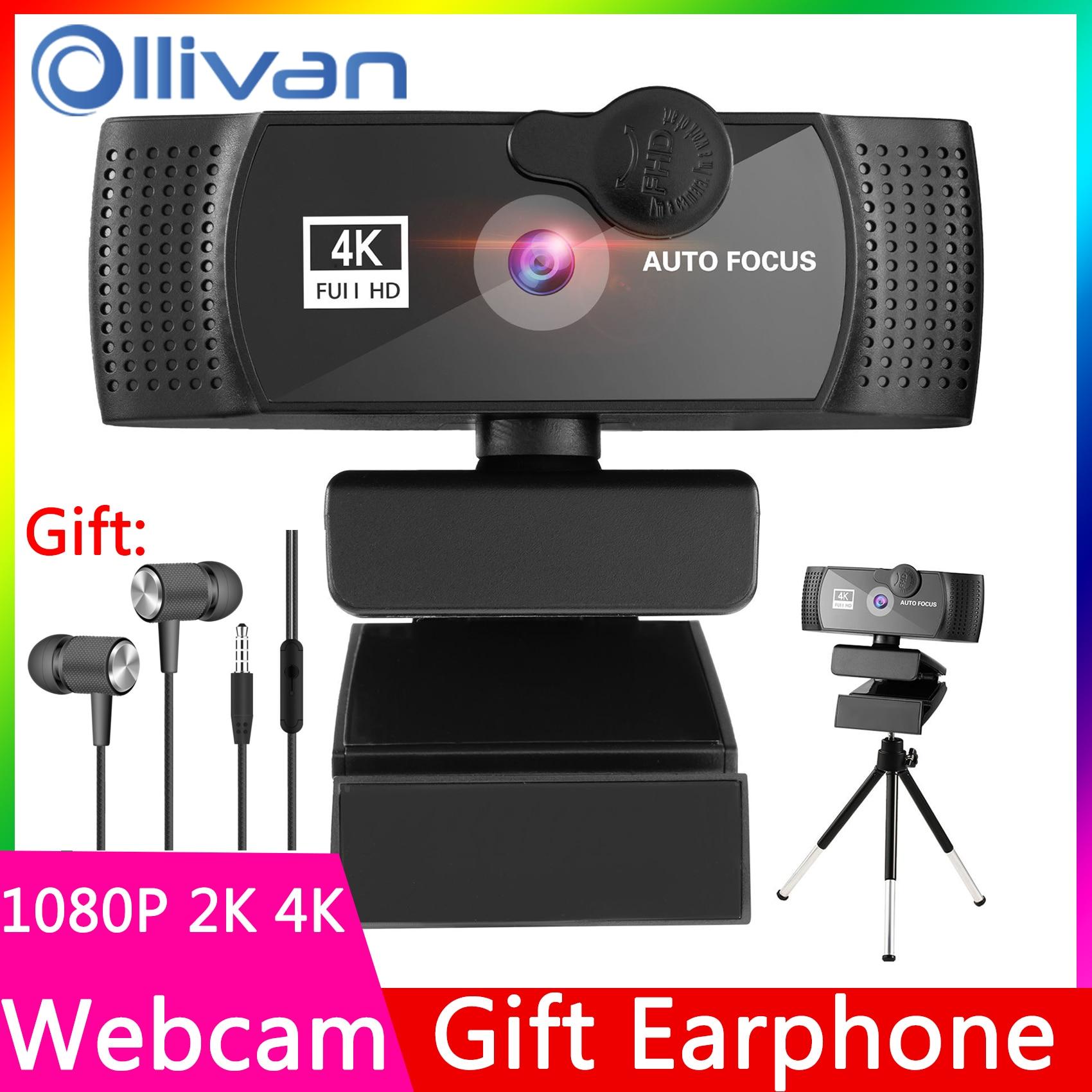 Webcam 4K 2K 1080P cámara Web Para computadora cámara Web de PC...