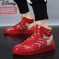 marvel iron man sports mens youth basketball shoes trend high top shoes mens fashion reflective new casual shoes