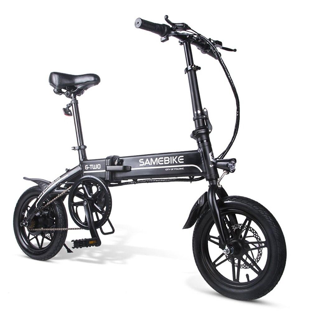 Lixada-bicicleta eléctrica plegable de 14 pulgadas, cicla eléctrica con Motor de 250W