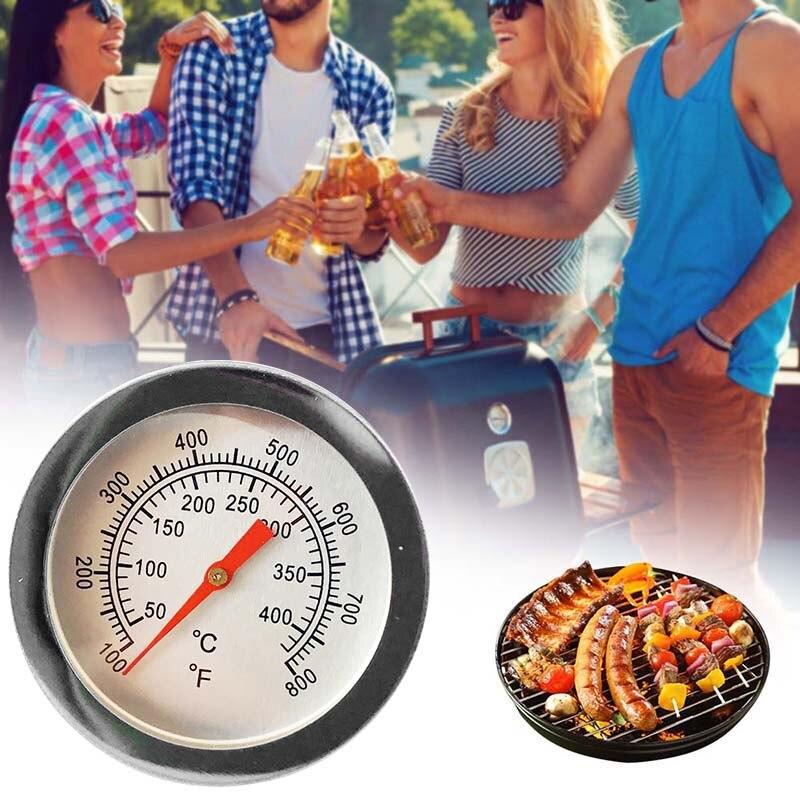 Измеритель температуры для барбекю 100F-800F, прочный водонепроницаемый прибор из нержавеющей стали для приготовления барбекю на гриле, термометр для духовки, 1 шт.
