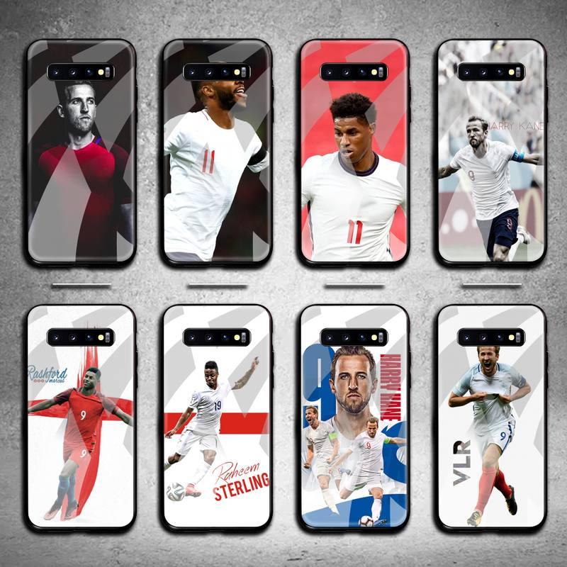 England Football Kane RASHFORD Sterling Phone Case Tempered Glass For Samsung S20 Plus S7 S8 S9 S10