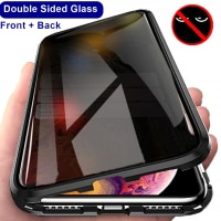 Защитное магнитное стекло для смартфона с антишпионским покрытием