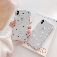 iphone case apple xsmaxxr mobile phone case 78plus for iphone 11 cover 6 11 lovely flowers and little hearts iphone 12 pro case