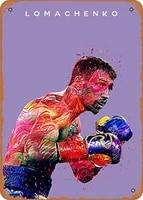 vintage look metal sign boxing greats boxer vasyl lomachenko 8x12 tin plate wall decor