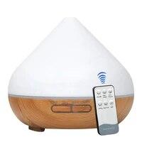 300ml Grain de Bois Diffuseur Darome Humidificateur Dair A Ultrasons Diffuseur Dhuile Essentielle avec LED Lumieres pour la Maison De Bureau