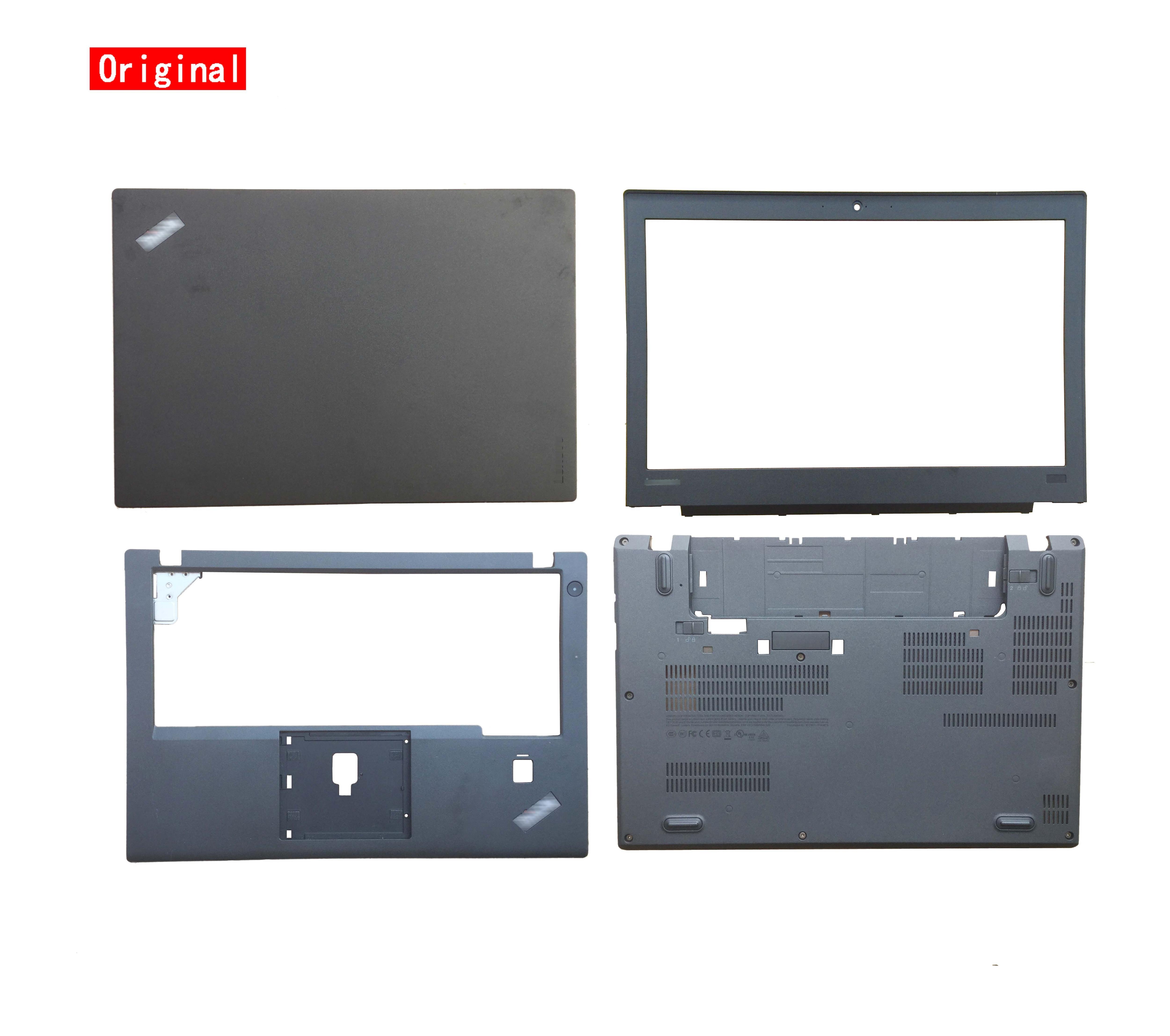 غطاء للكمبيوتر المحمول الأصلي الجديد لينوفو ثينك باد X260 X270 LCD الغطاء الخلفي الغطاء الخلفي العلوي الحافة Palmrest الغطاء السفلي للقضية