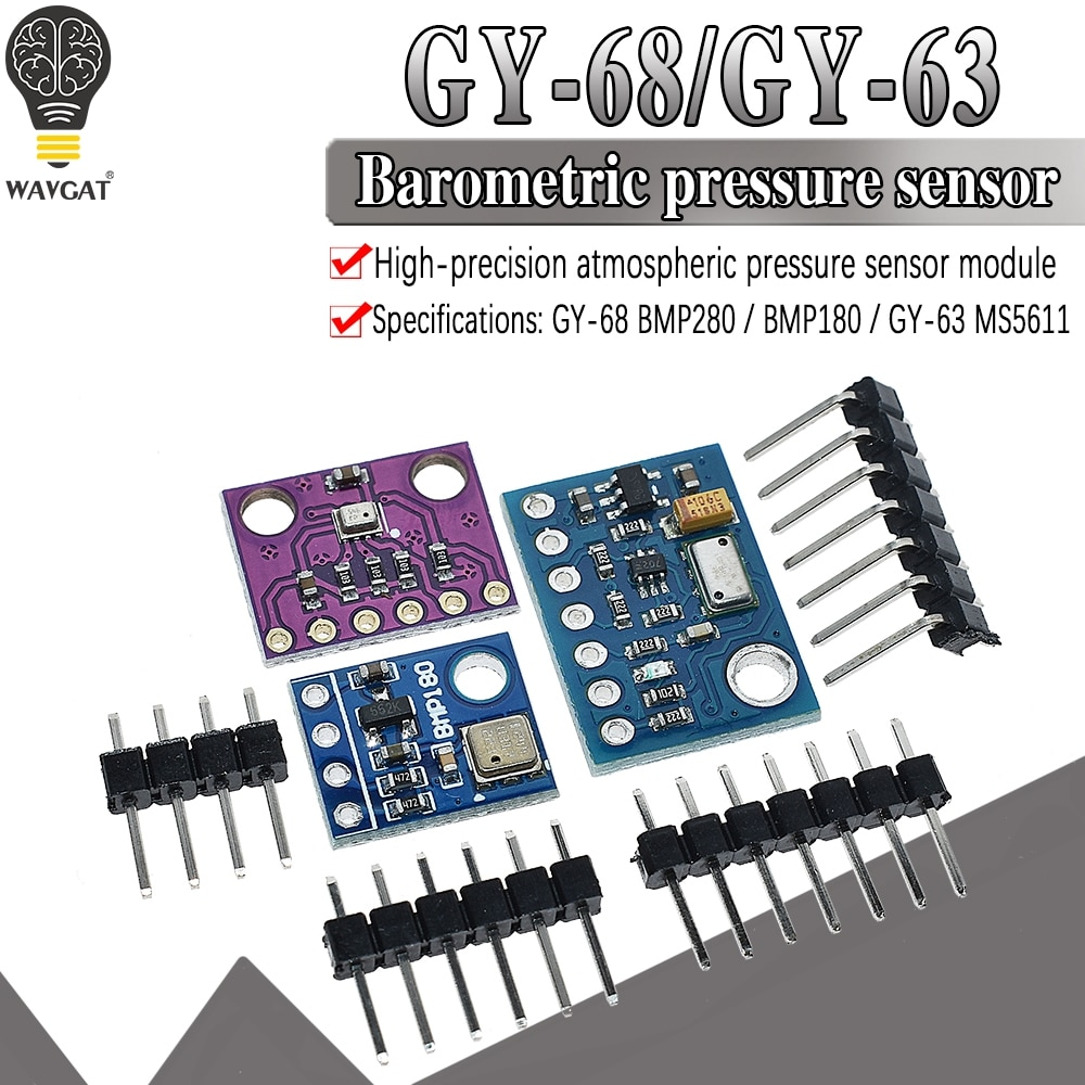 AliExpress - WAVGAT GY-68 GY-63 BMP180 BMP280 GY68 Digital Barometric Pressure Sensor Board Module compatible with BMP085 MS5611 For Arduino