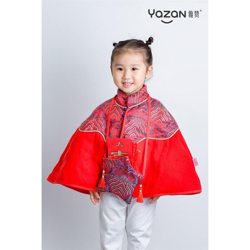 Yazan tangzwang xiangyun-معطف بناتي ، معطف واق من المطر ، مع حقيبة رأس السنة ، لفصل الربيع والخريف