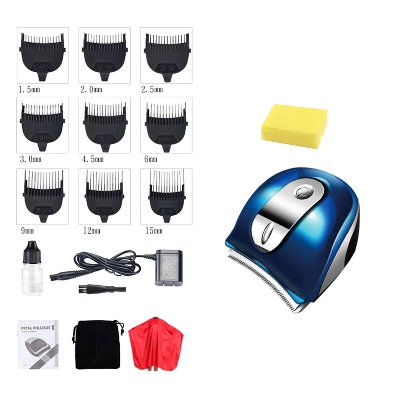 classic body grooming hair clippers shaving set haircut kit precision blade great for barbers and stylist guide combs attachment Professional Electric Hair Clippers Men Beard Trimmer Barber Grooming Kit USB Rechargeable Cordless Haircut Machine Cutting