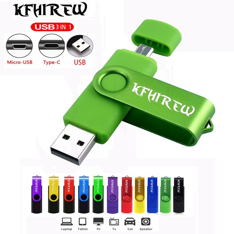 Type-C usb flash stick OTG 3 IN 1 pendrive 128GB cle usb memory 32GB pen drive 64GB flash usb pen 16GB Key USB Flash Drive 8GB