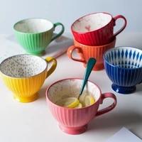 ceramic mugs coffee cup breakfast cereal cute ceramic cup milk household large capacity oatmeal mug drinkware home decor