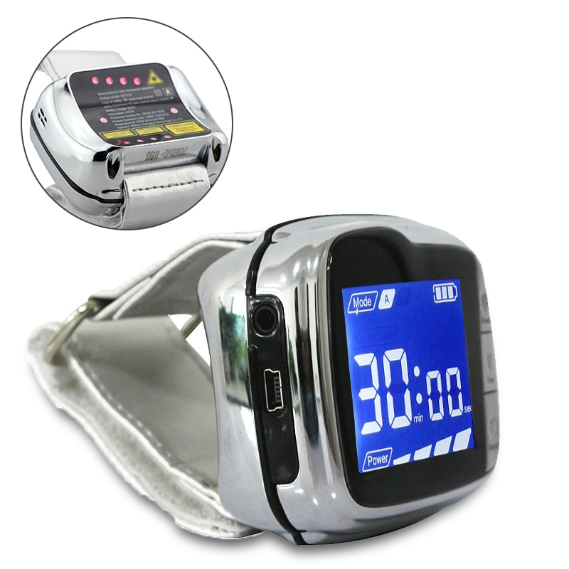 LASPOT Purify Blood Viscosity Therapy Laser Watch for Type 2 Diabetes Treatment LLLT Low Level Laser Therapeutic Apparatus
