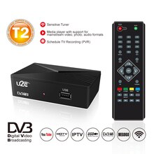 U2C DVB-T2 TV Tuner HD Digital TV Receiver DVB T2 Rezeptor H.264 HDTV Set Top Box DVBT2 Decoder DVB-T Präfix für Russische TDT TV
