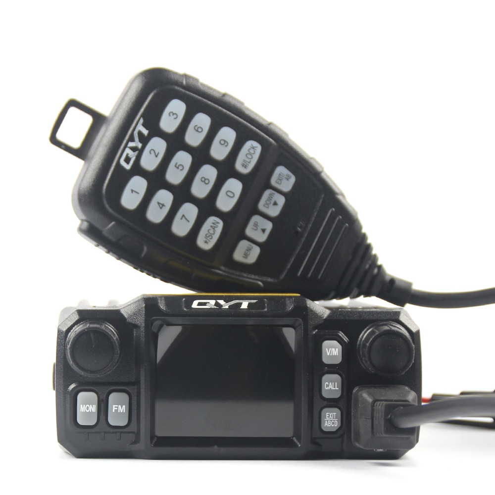 Latest Version Mini Mobile Radio QYT KT-7900D 25W Quad Band 144/220/350/440MHz KT7900D UV transceiver or with Power Supply