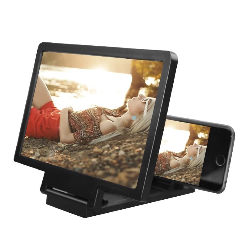 AMPLIFICADOR DE PANTALLA 3D lupa de teléfono móvil soporte para HD para Video plegable soporte de teléfono móvil Protector de ojos