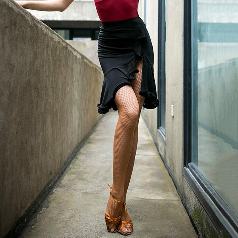 Mode danse latine jupe femmes Tango Salsa Cha Cha Samba Rumba salle de bal pratique danse vêtements scène Performance tenue DF1700