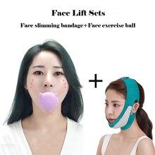 Face Lift Slimming Device Face Bandage Facial training ball Thin Chin Cheek Lift Up Belt Anti Wrinkl